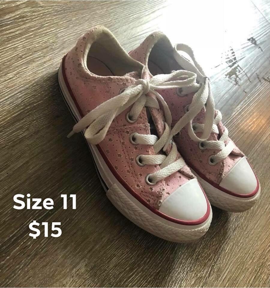 Girls size 11 Converse