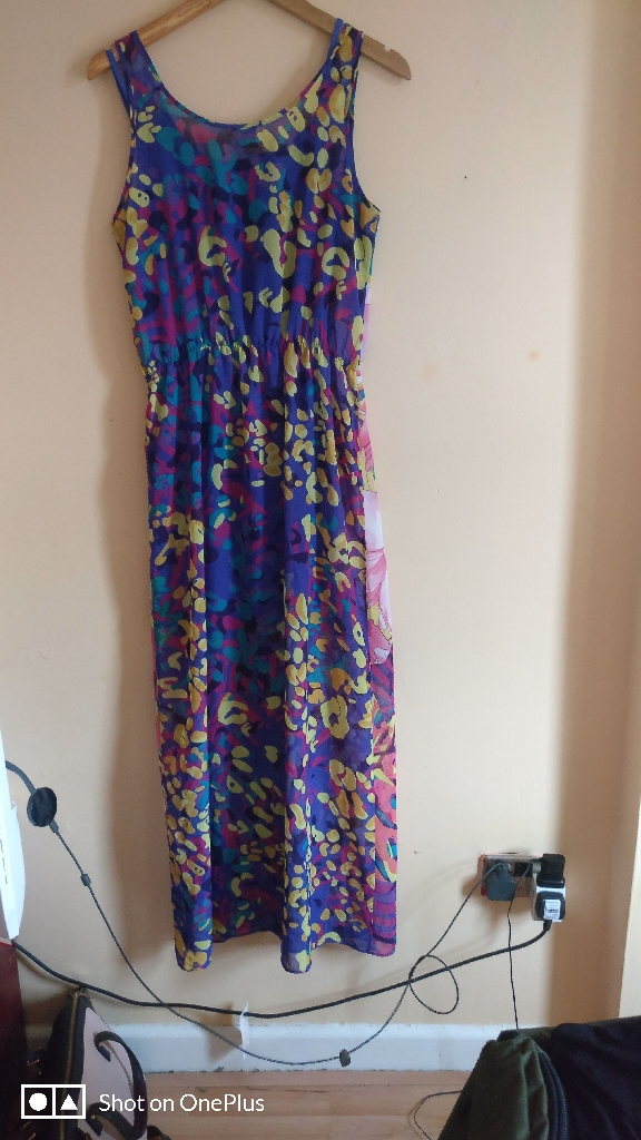 Dress long 10 uk size