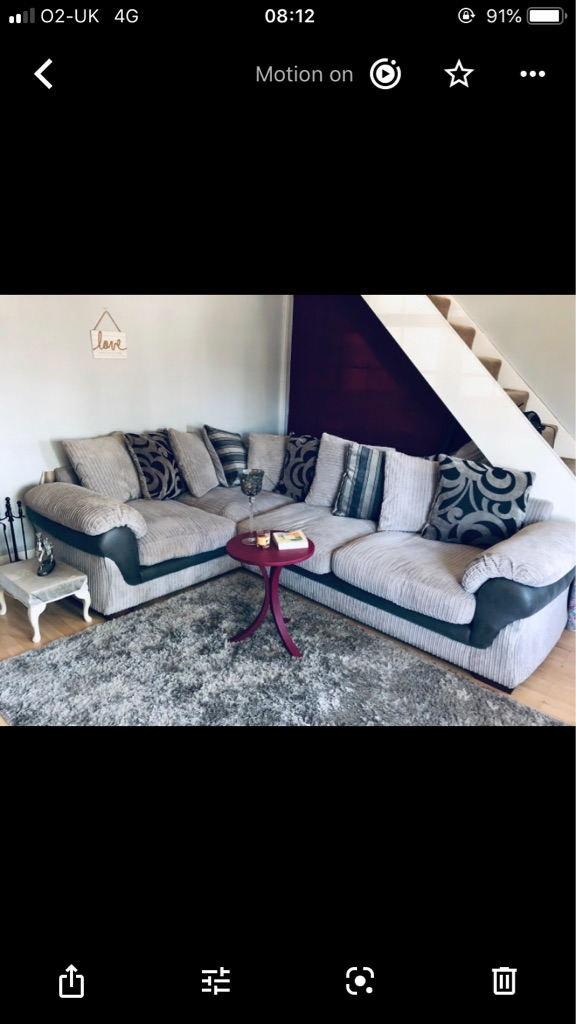 Grey corner sofa - offers welcome!!