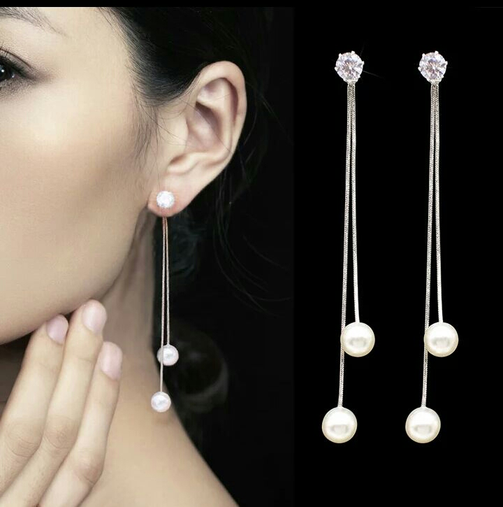 New Simulated Pearl Drop Earrings for women