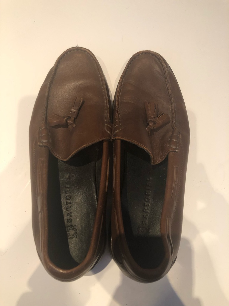 M&S brown loafers