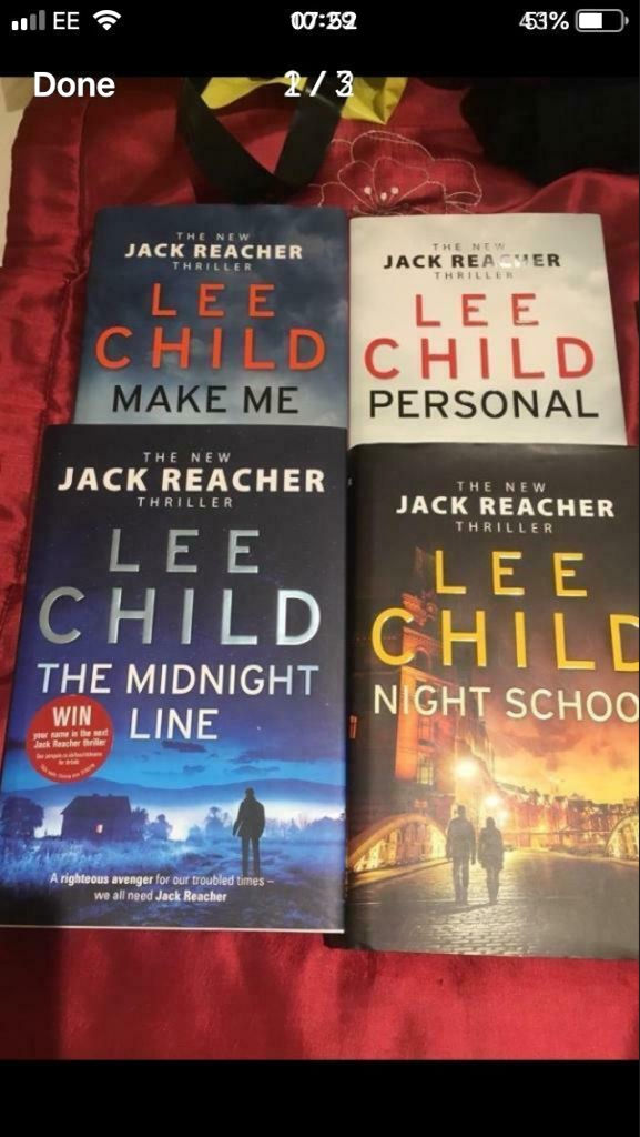 Full Set Of The Jack Reacher Thrillers By Lee Child