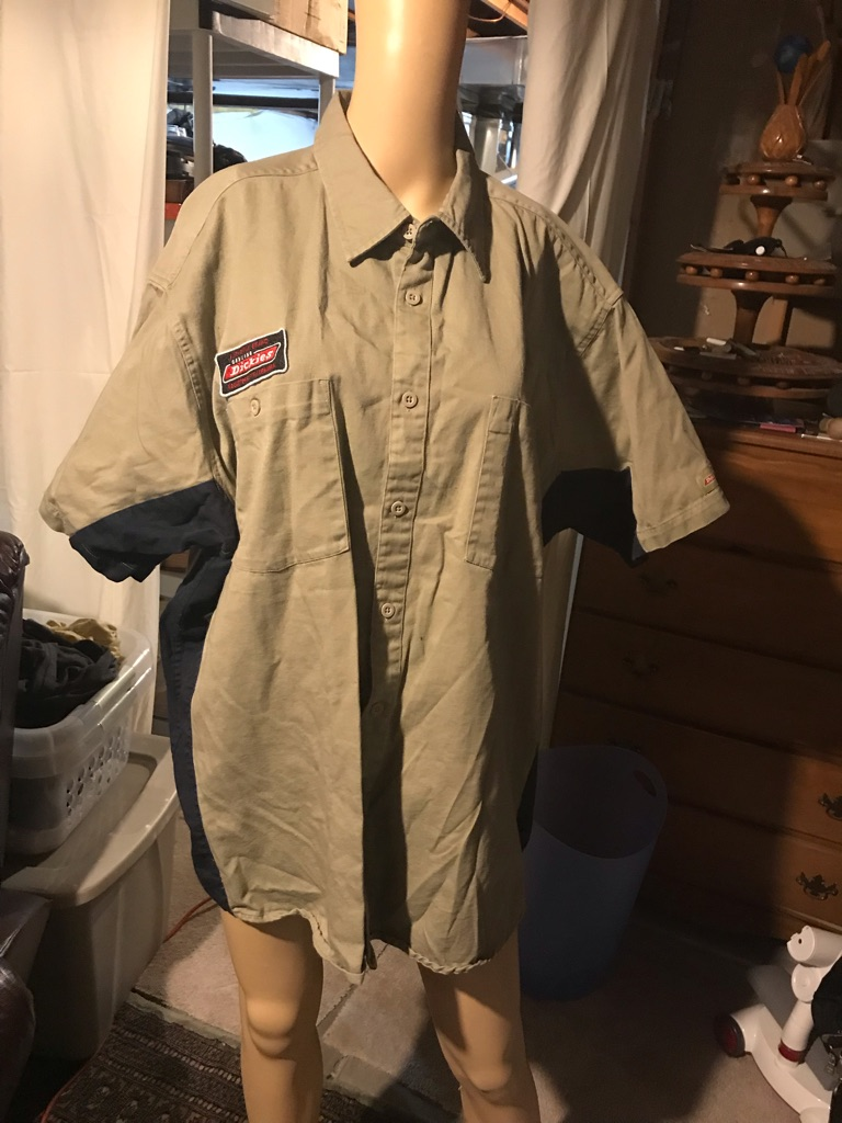 Dickies Work Shirt Khaki and Navy