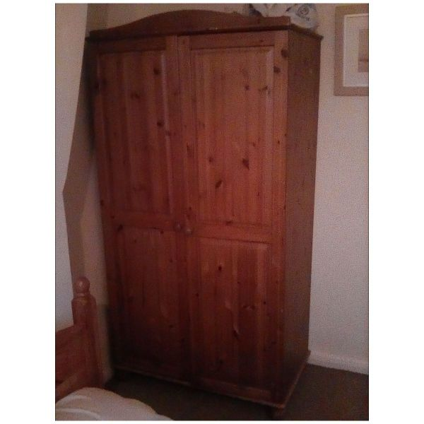 Oak wood wardrobe