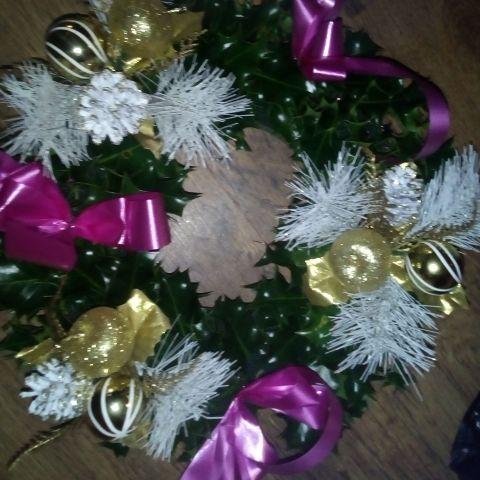Holly grave wreaths