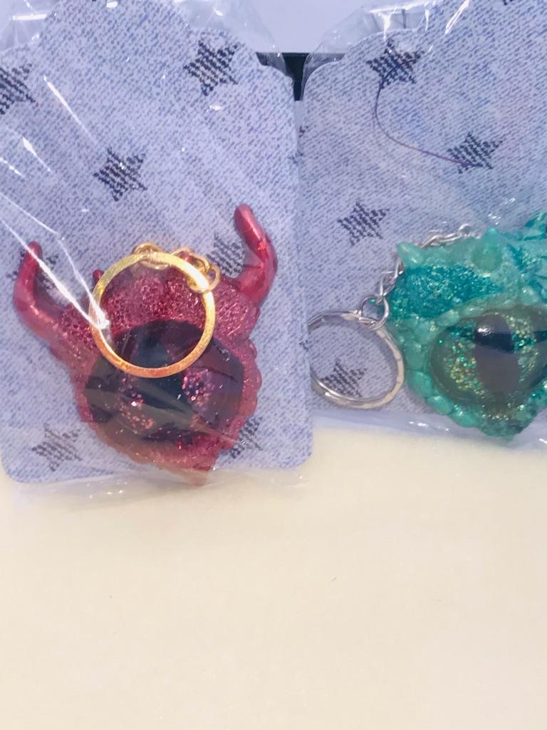 Resin key ring charms
