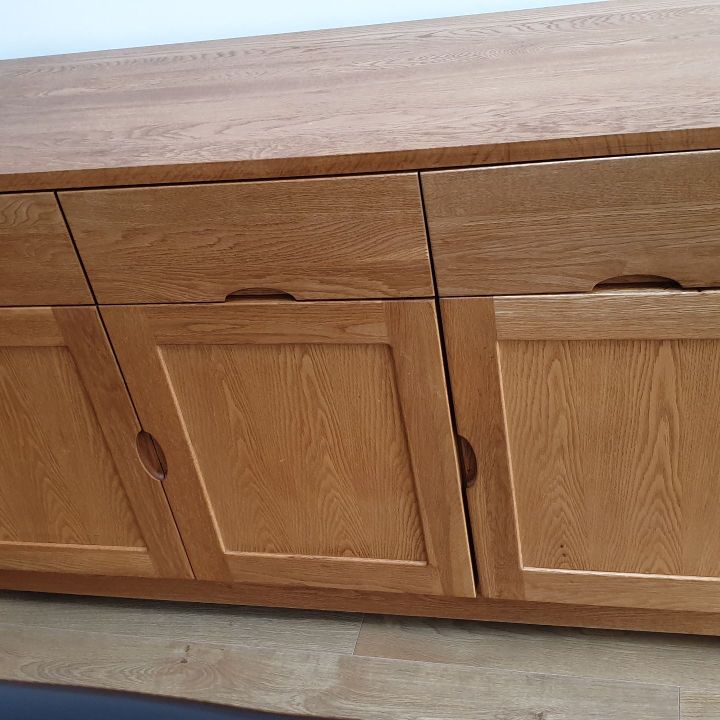 Solid oak sideboard