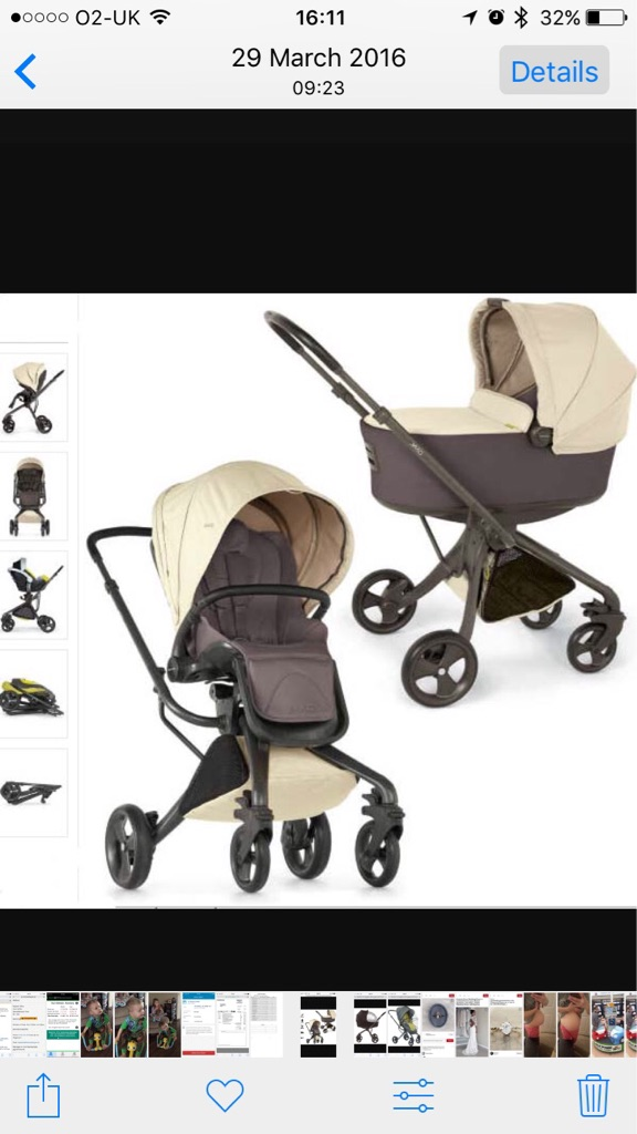 Mamas and papas 'Mylo' full Pram/pushchair