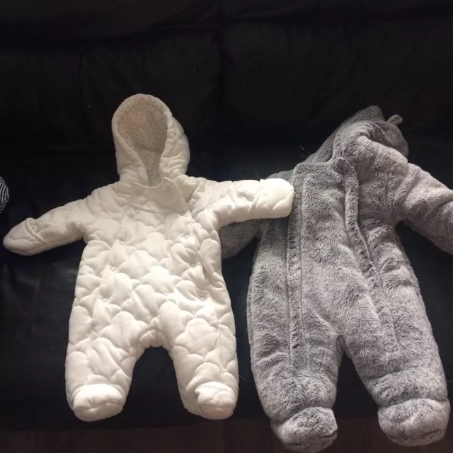 Baby snowsuits tiny baby first size