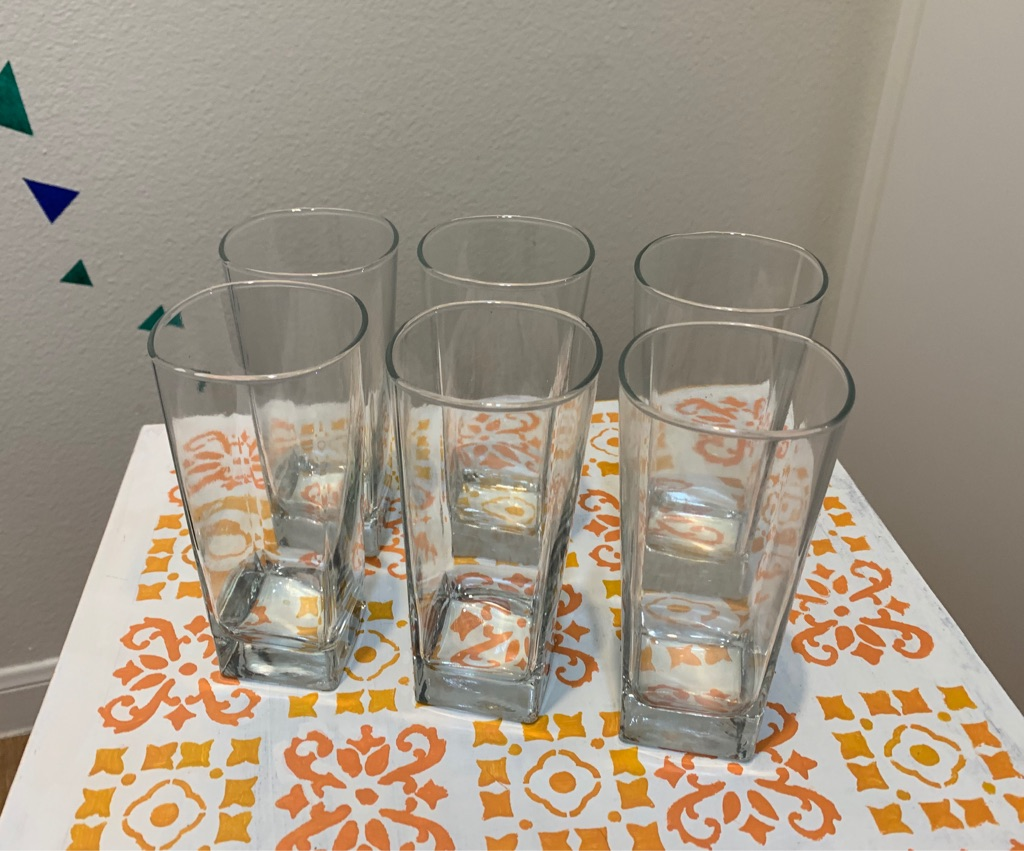 Set of 6 brand new glasses