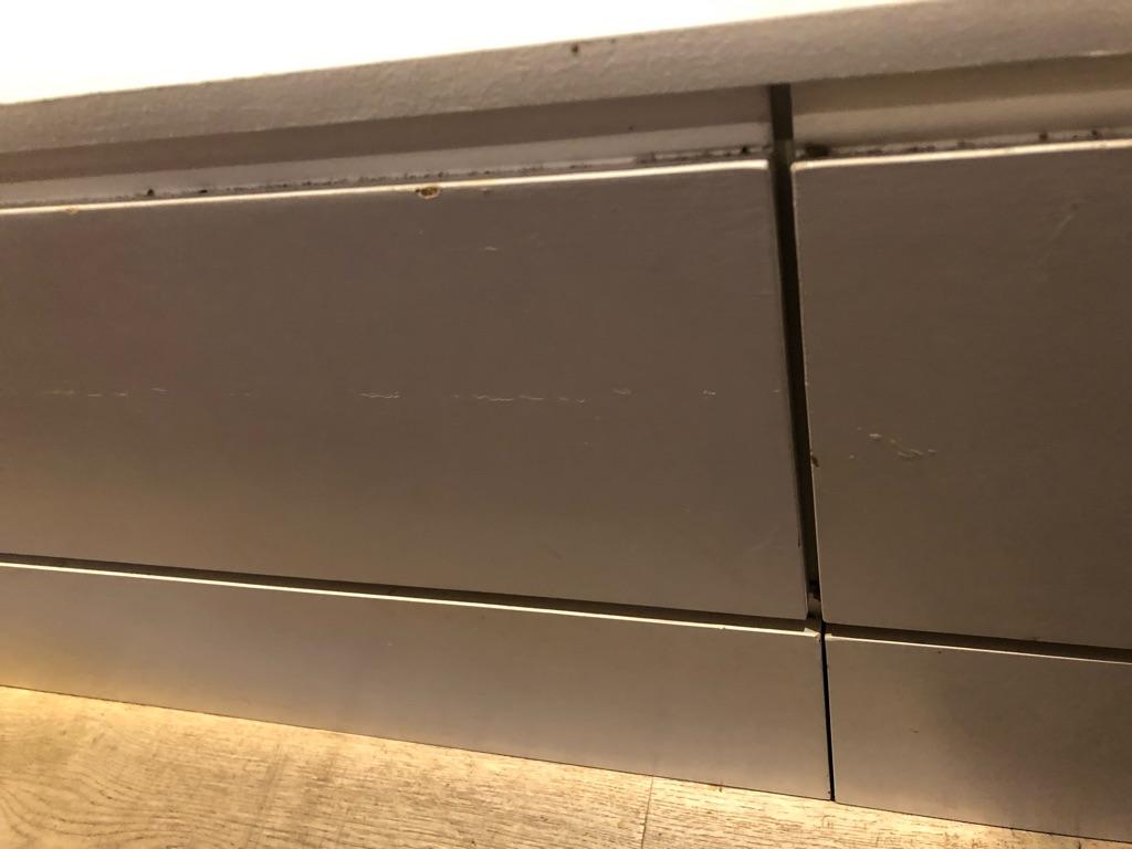 274cm long, handmade white, wooden storage bench