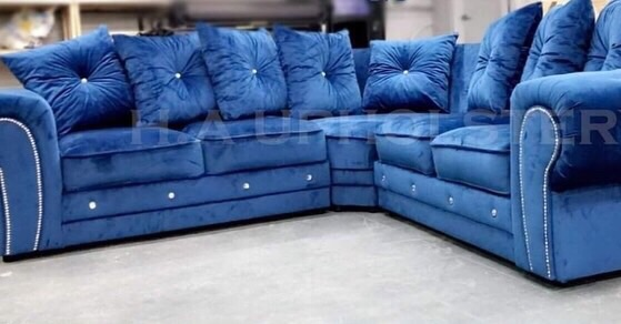 Brand new plush velvet corner sofa