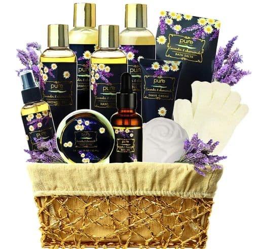 Aromatherapy Lavender & Chamomile Spa Gift Basket