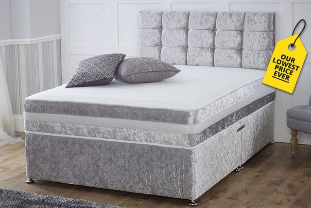 Double divan storage bed.