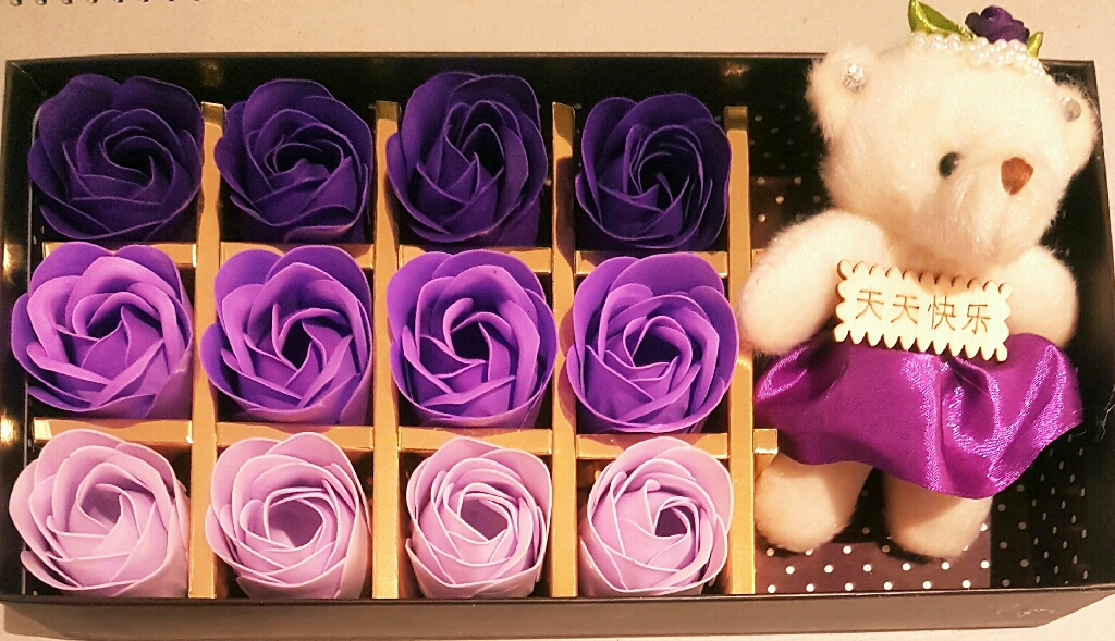 Rose flower soap gift set