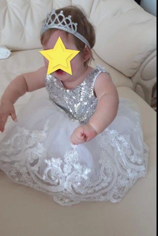 12 months sequin bow dress