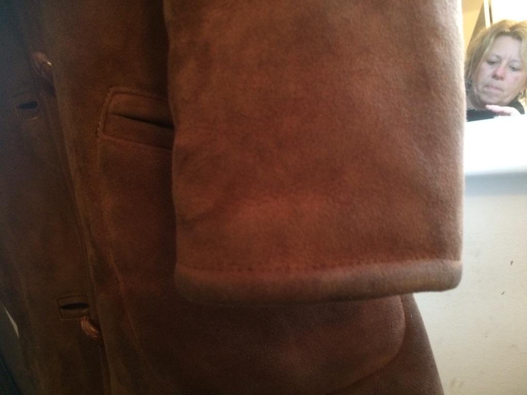 Ladies retro sheepskin jacket