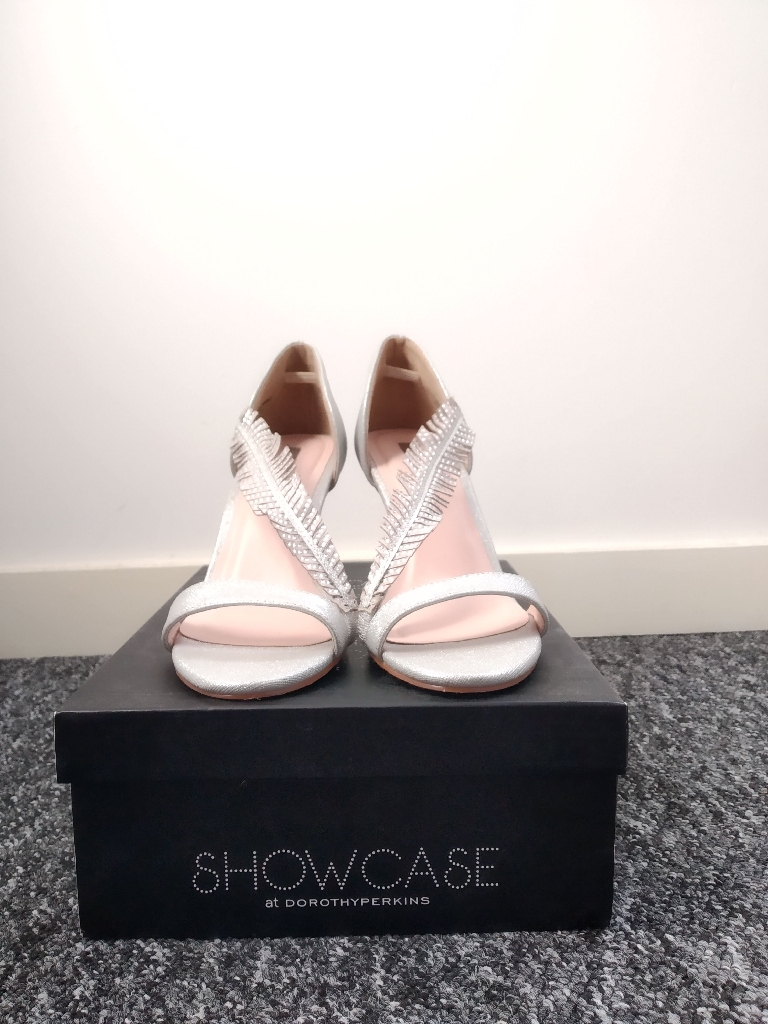Showcase by Dorothy Perkins Silver sandals. New with tags. Size 5