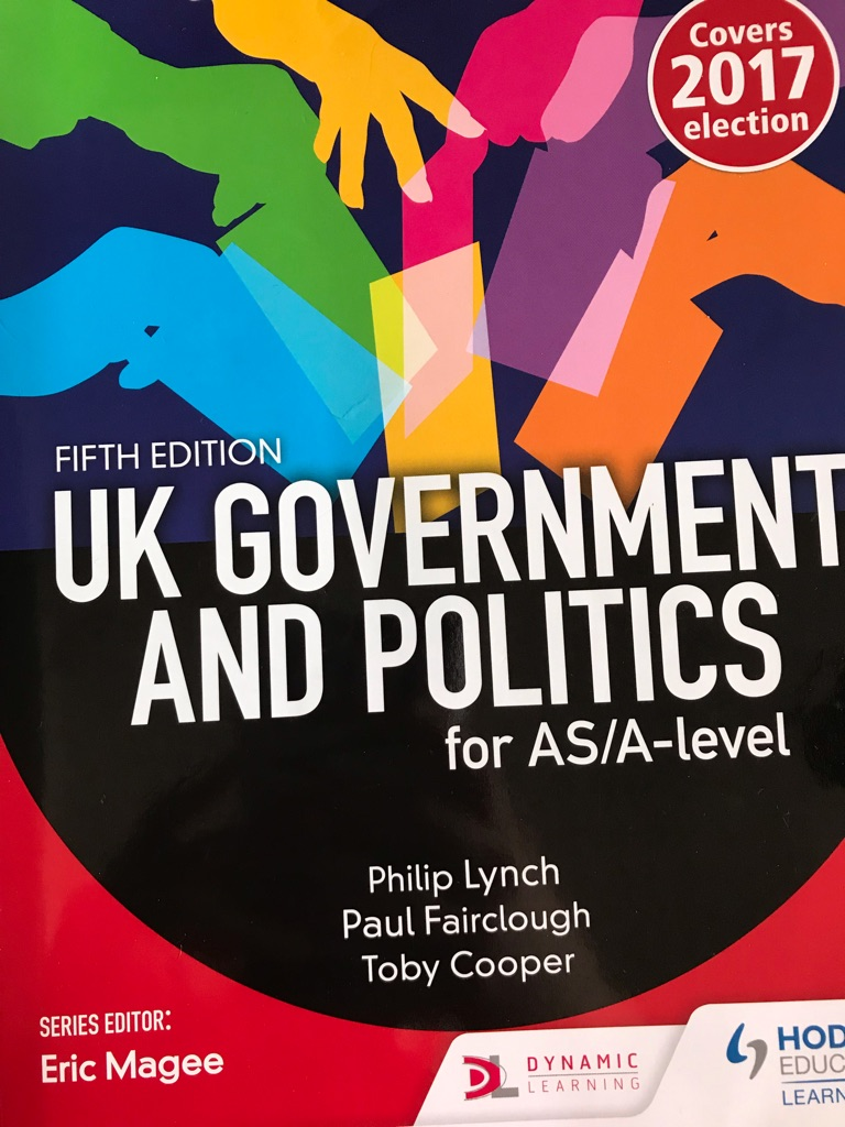As level and A level government and politics books.