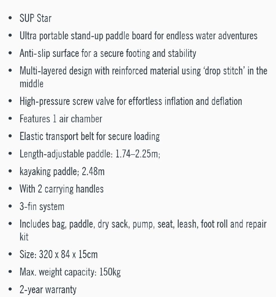 F2 inflatible SUP
