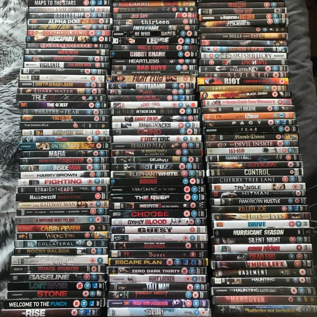 140 horror dvds
