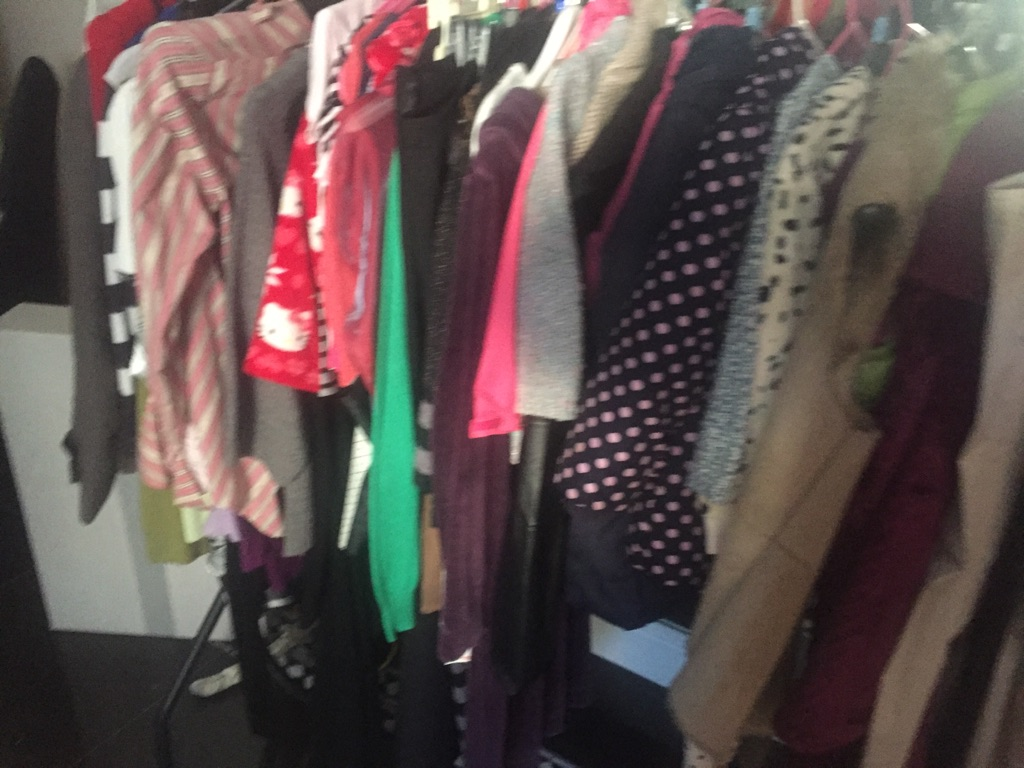 Large amount of children's and women's clothing