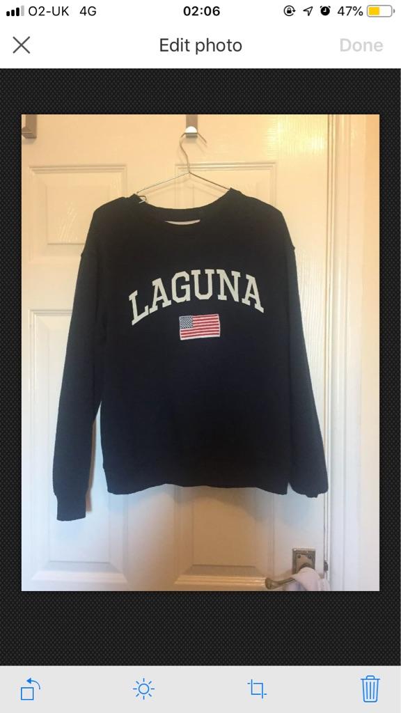 XS topshop tee and cake Laguna sweatshirt size 6