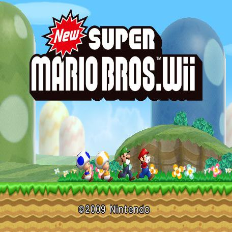 Nintendo wii system with Mario game