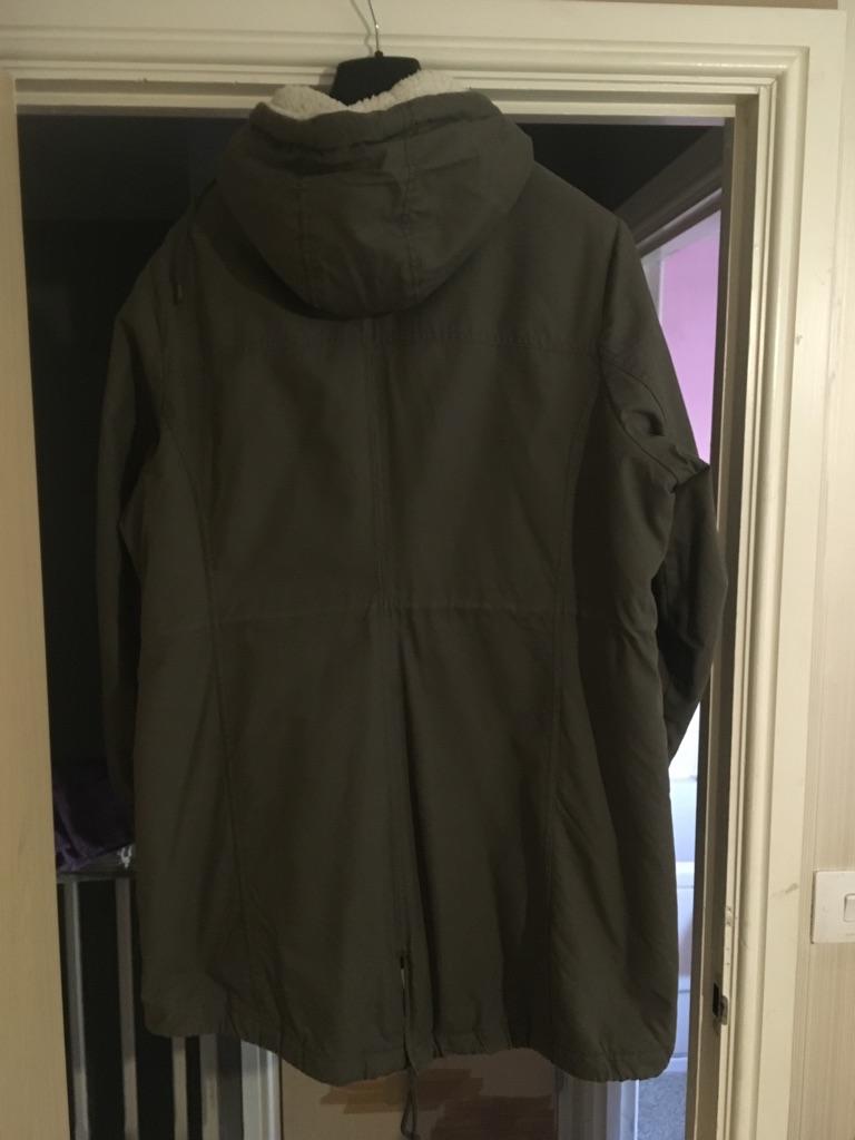 Green Parker coat
