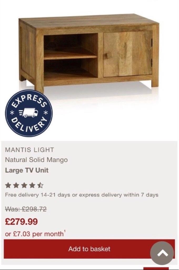 "Solid oak tv unit ""bargain"""