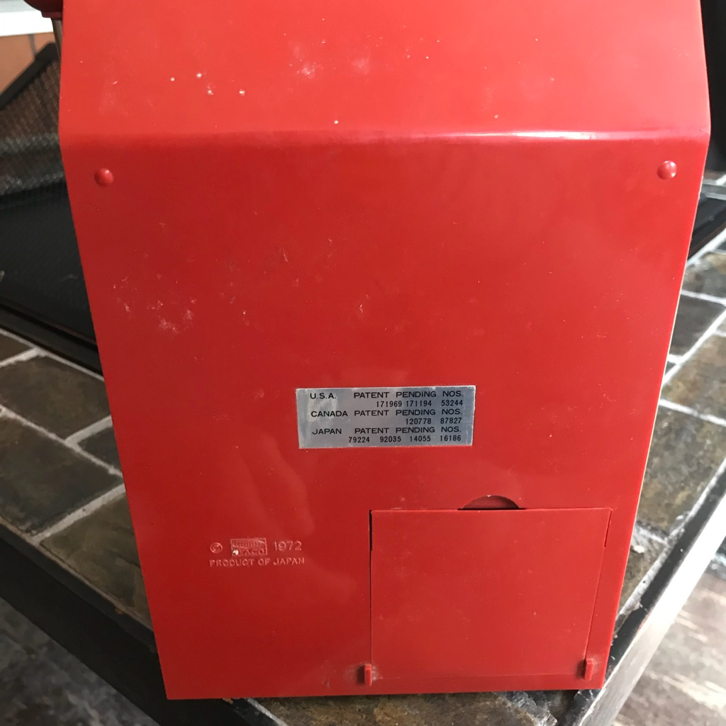 Vintage 1972 Waco Toy Slot Machine