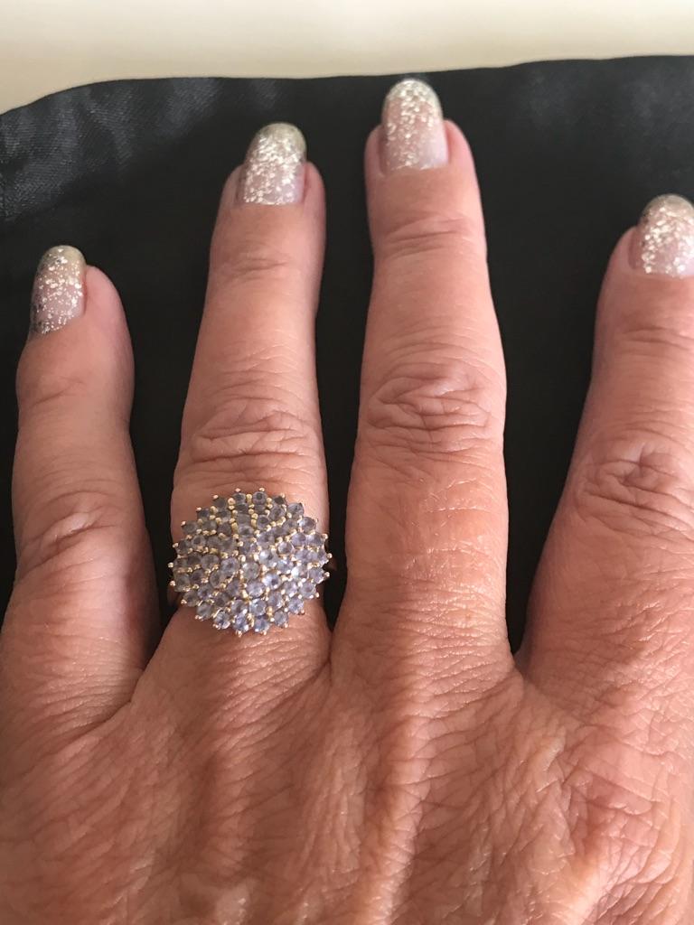 Ladies tanzanite cocktail ring