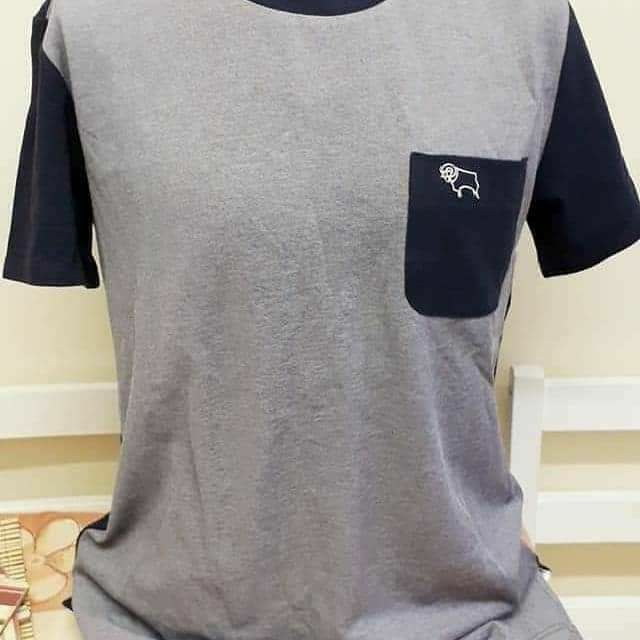Derby County Official Football Club Tshirt Navy RRP£20