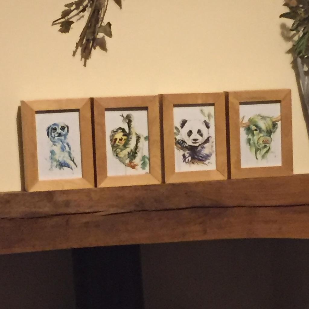 A6 prints in box frames