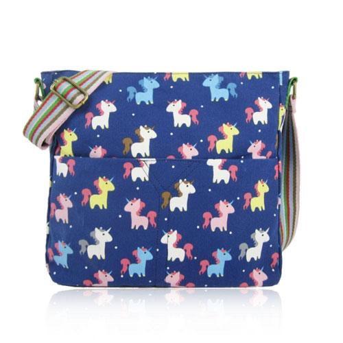 Unicorn canvas crossbody bag