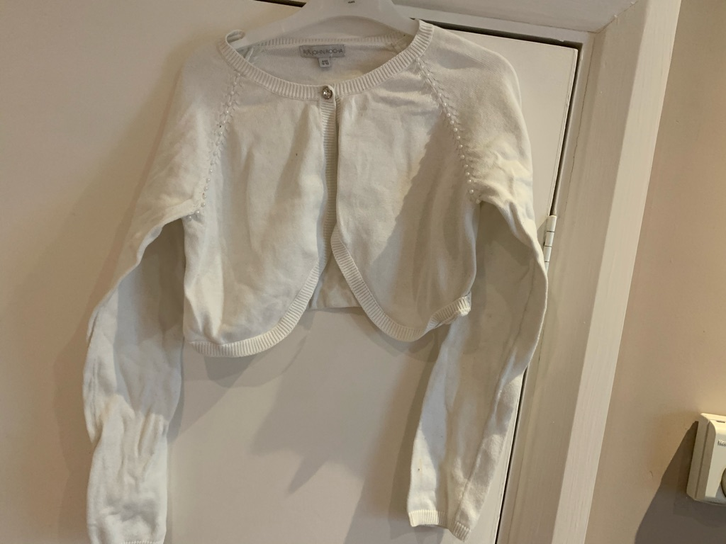 Girls white cardigan 9-10 years