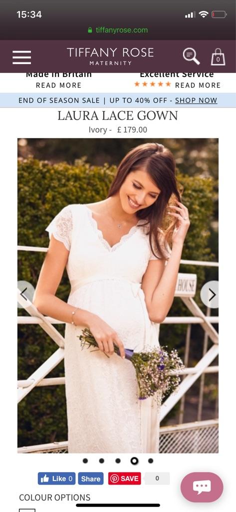Tiffany rose maternity wedding dress with belt extra