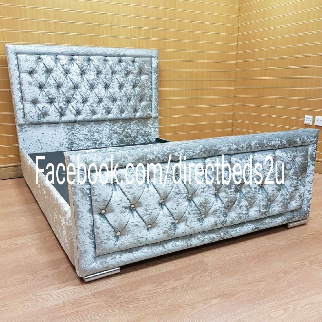 FLASH SALE - Handmade British Beds. Crushed velvet bed