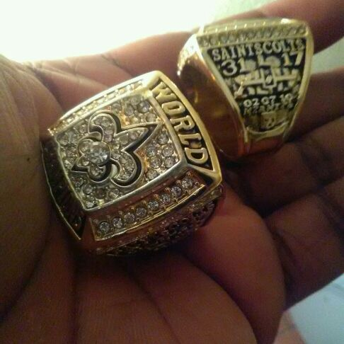 Saints super bowl rings