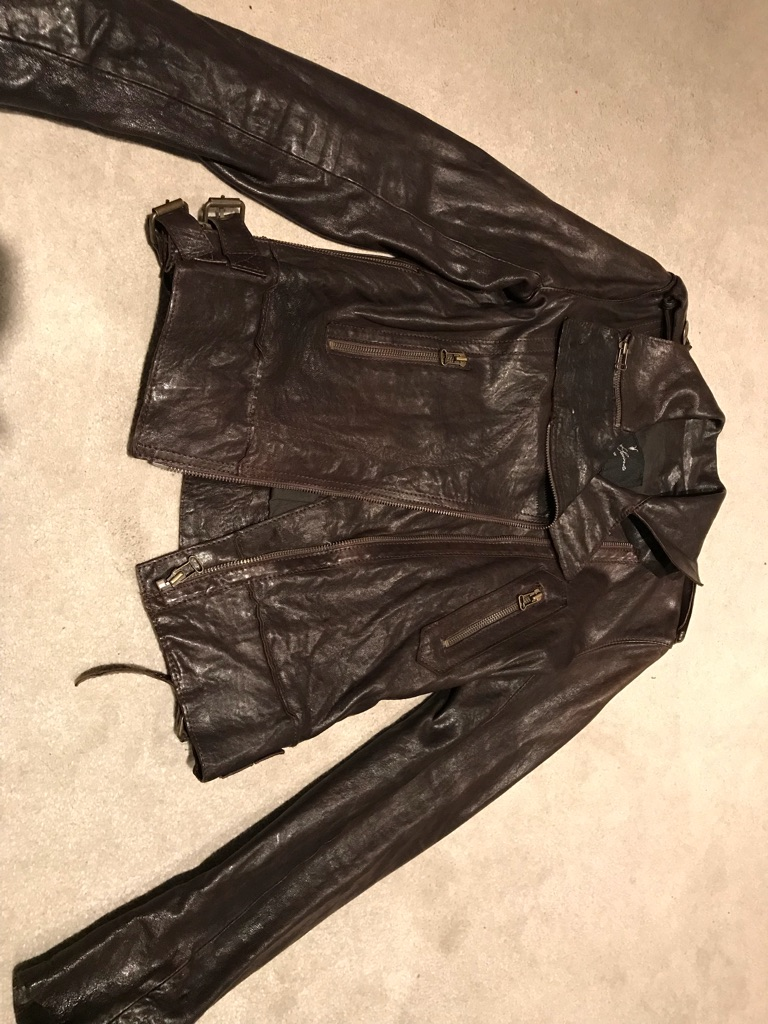 All Saints Leather Jacket Size 8