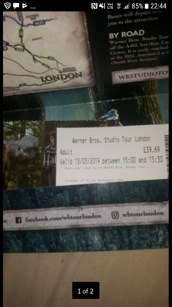 Harry Potter Studio Tour Tickets