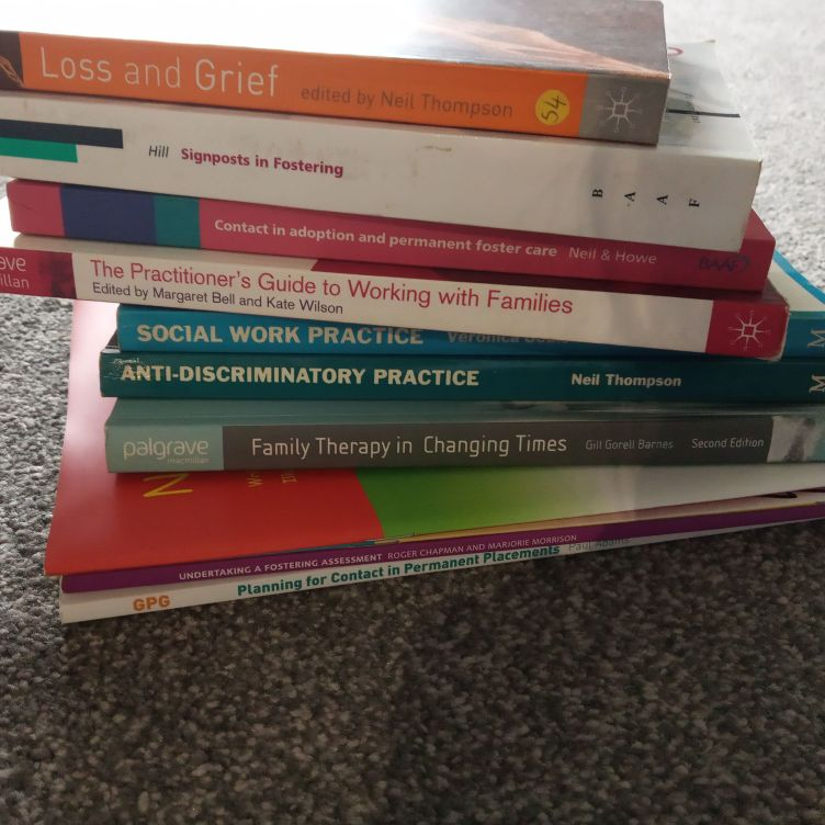 Multiple social work and care books