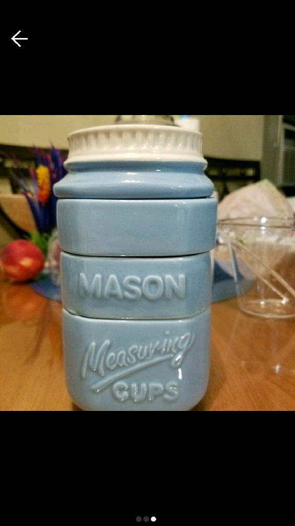 New 4 piece Measuring Mason cup jar. Stackable. BRAND NEW. FIRM PRICE.