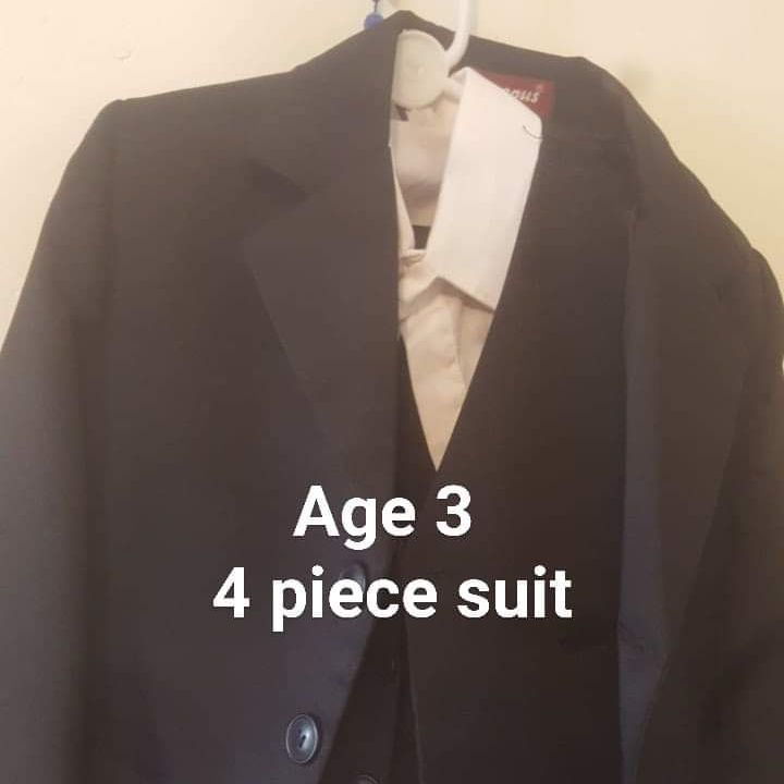 3 yr old 4 piece suit