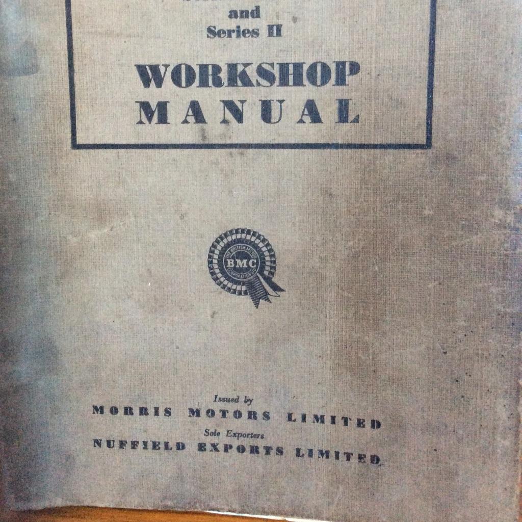 Morris Series MM & Series 2 workshop manual