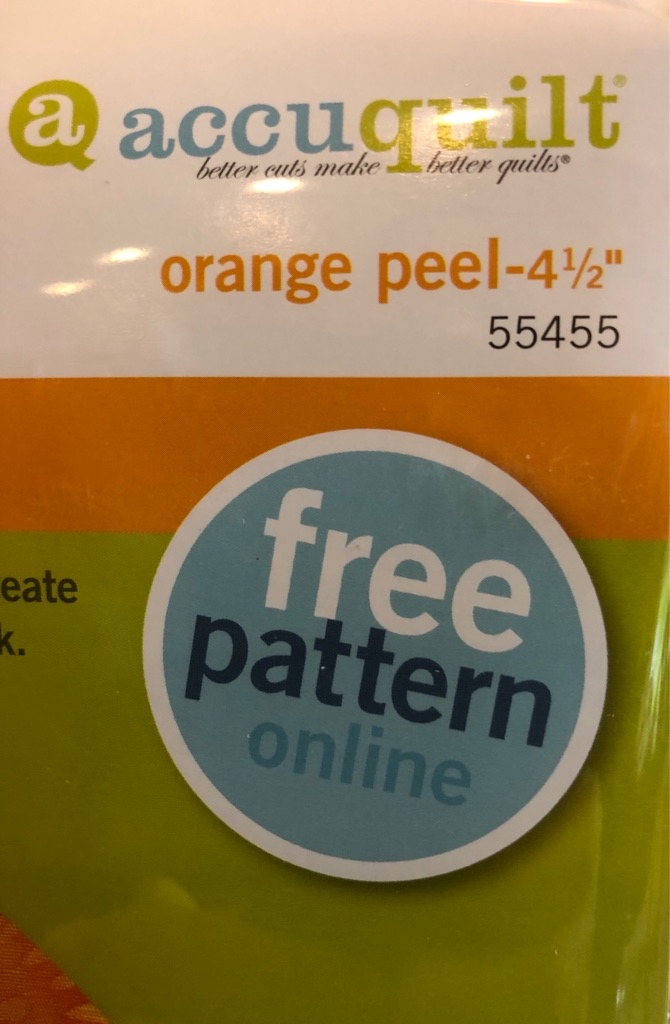 "AccuQuilt Orange Peel 4 1/2"" Die"