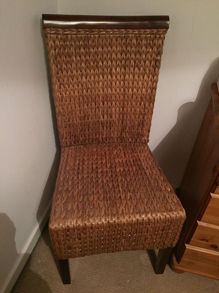 Wicker bedroom / conservatory chair
