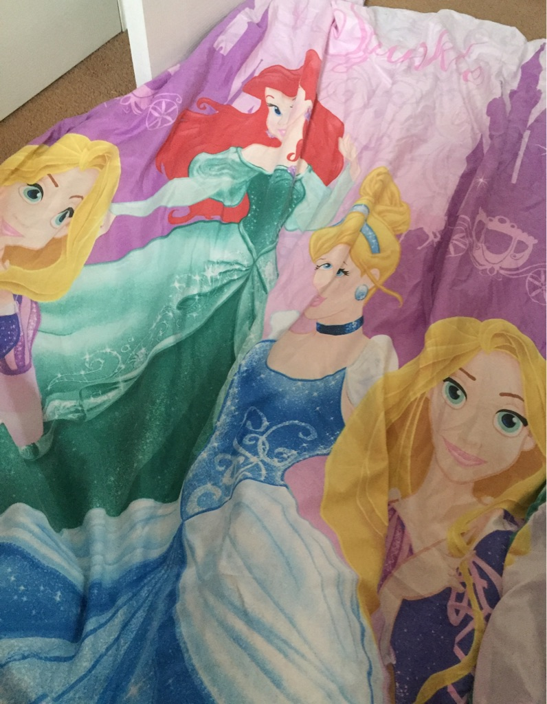 Disney princess single bedding and pillow case