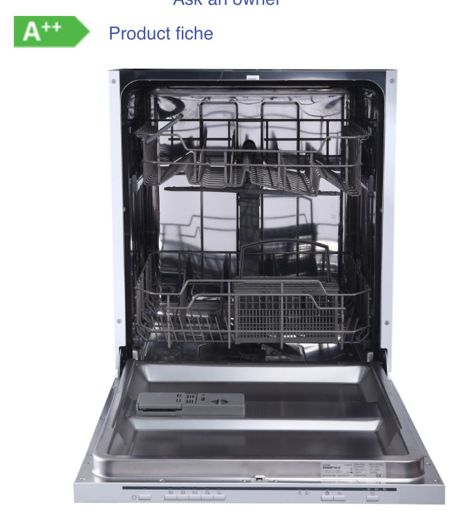 New Essentials fully integrated dishwasher