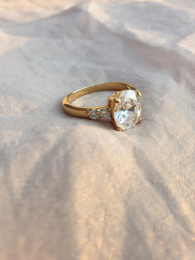 Large faux diamond ring